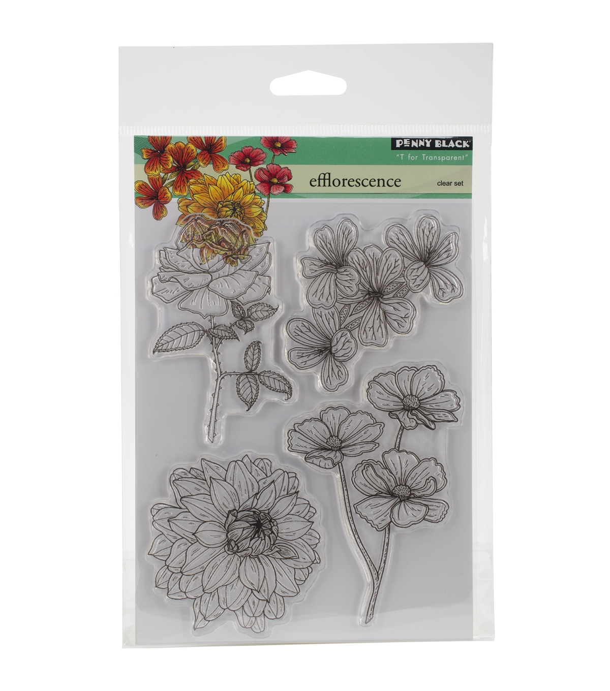 Penny Black Efflorescence Clear Stamps 5''x6.5''
