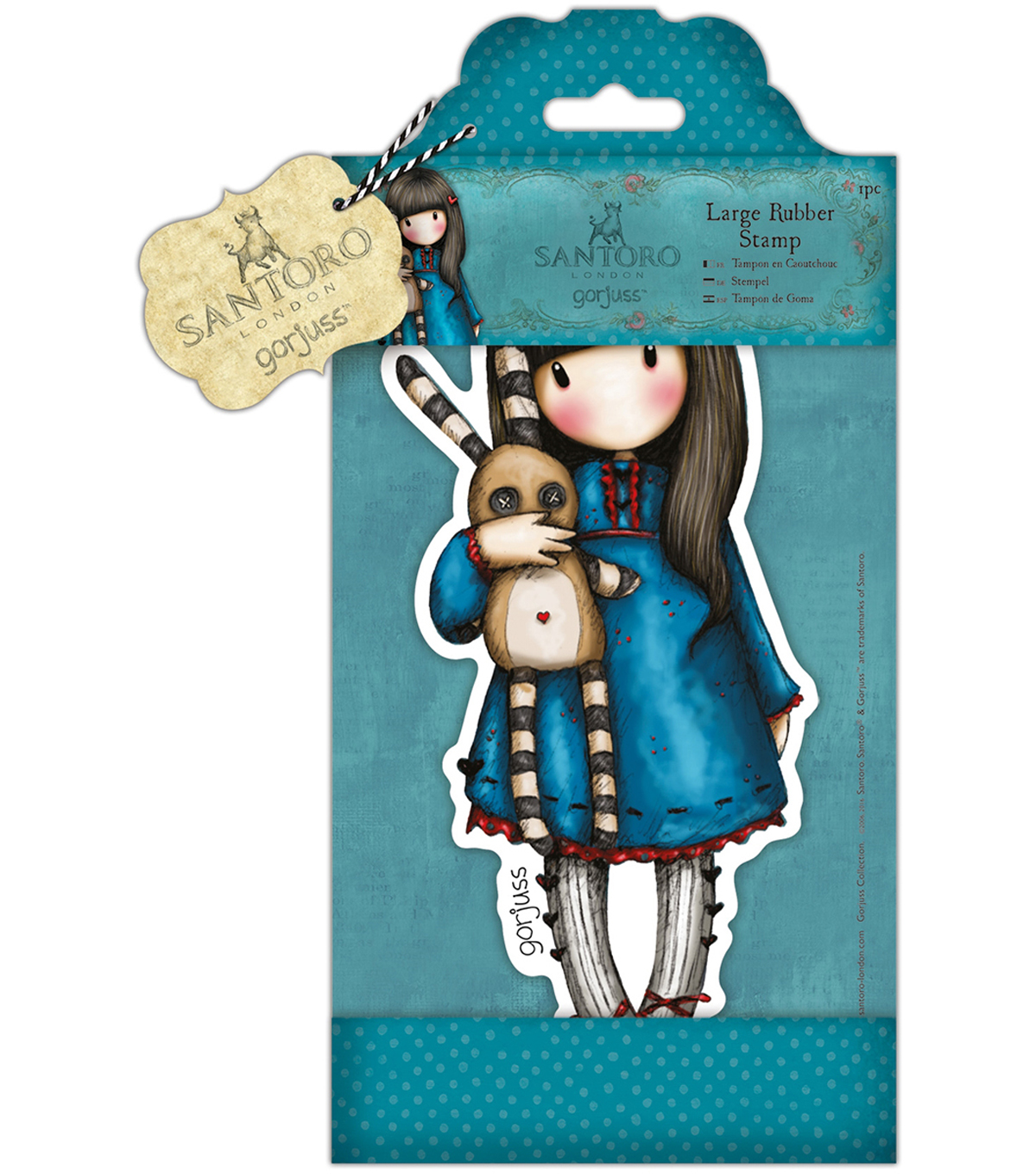 Santoro Large Rubber Stamps-Hush Little Bunny