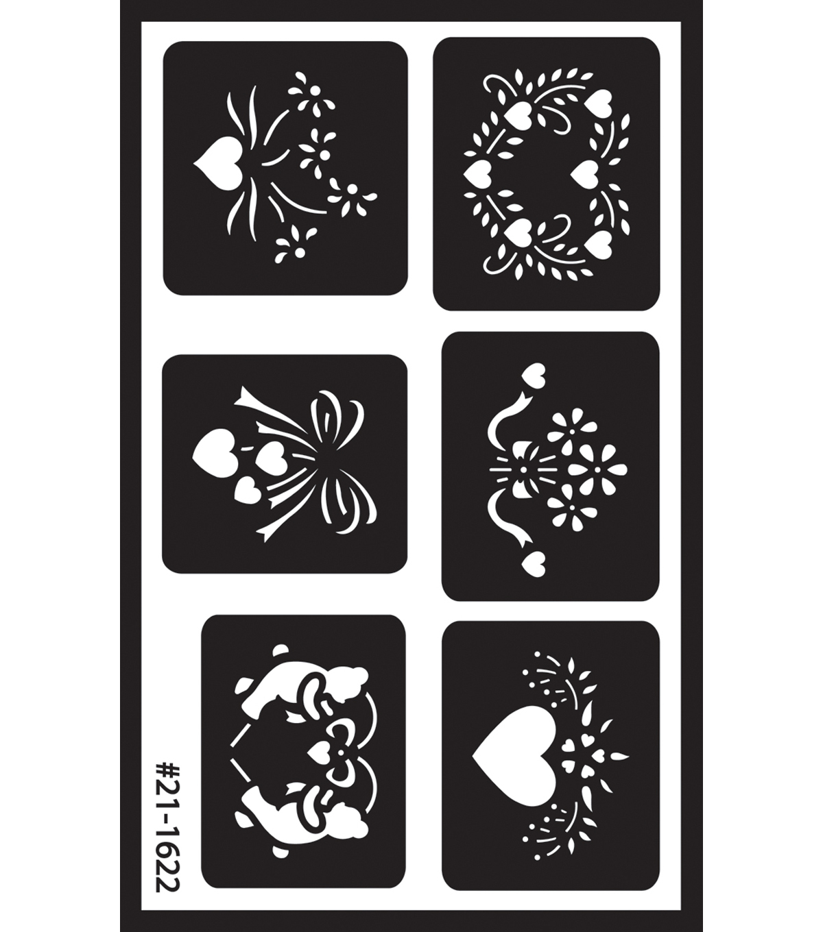 Over 'n' Over Reusable Glass Etching Stencils-Assorted