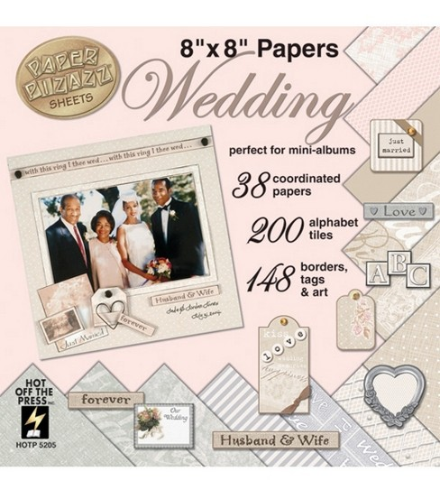 Hot Off the Press Romance&Wedding 8\u0022x8\u0022 Paper Pads