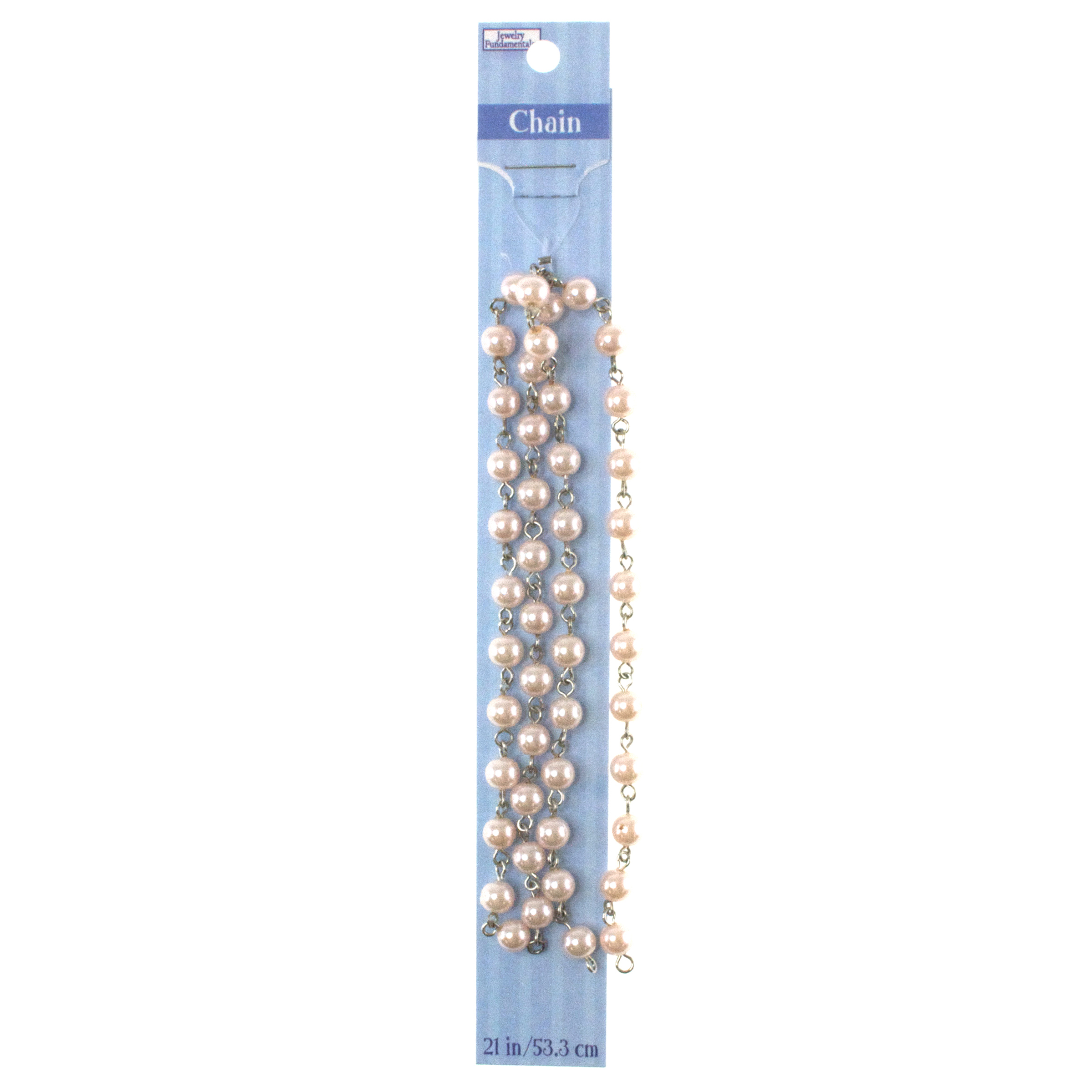 Jewelry Fundamentals 21 in. Chain-Pearly Pink Links