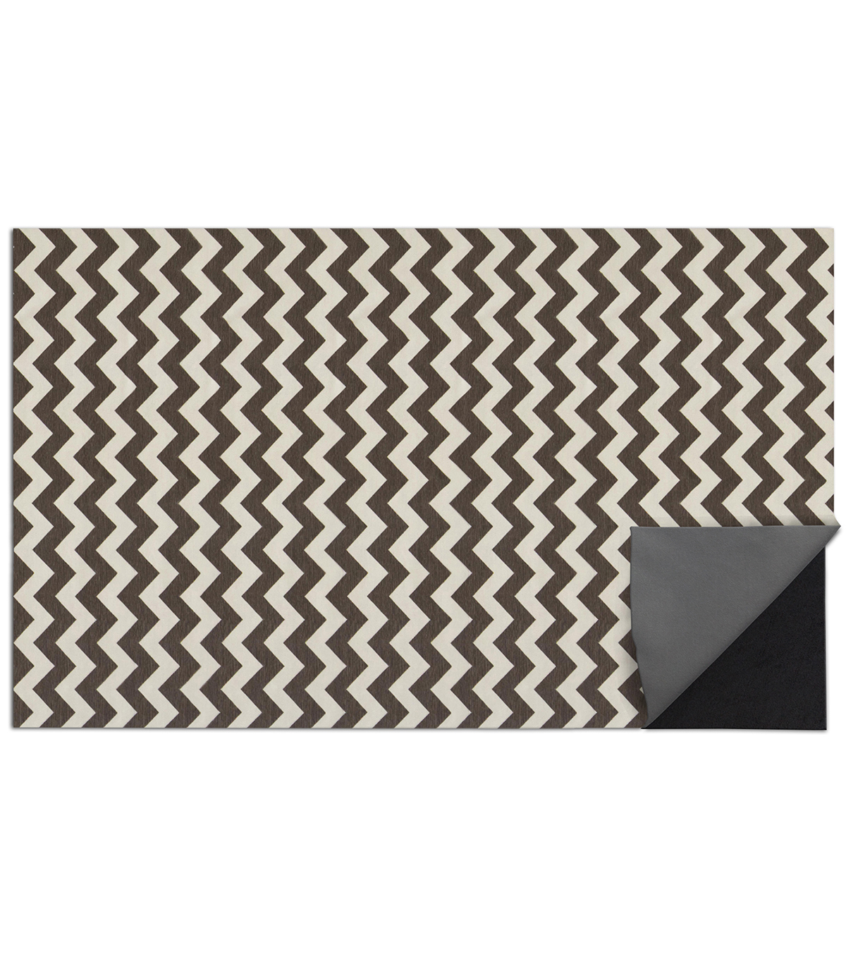 5x7\u0027 Ruggable 2pc Washable Rug System-Chevron Black  & White