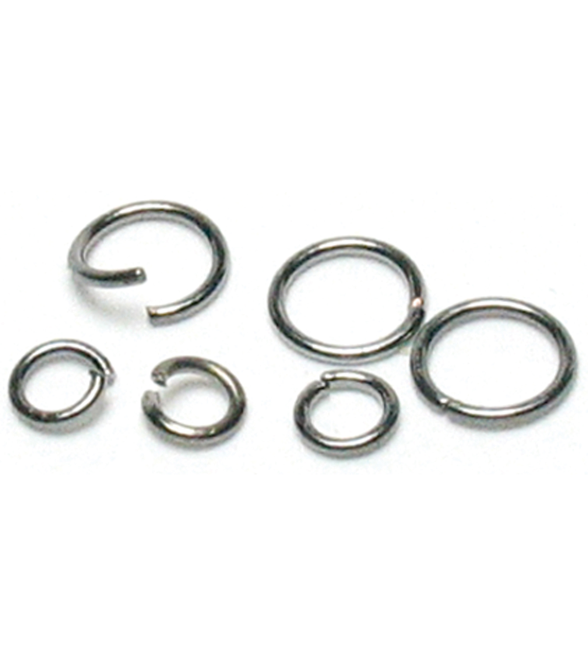 Jewelry Basics 4mm/6mm Jump Rings 400/Pk-Gunmetal