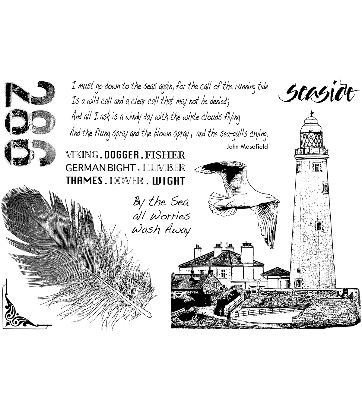 Crafty Individuals Unmounted Rubber Stamp Call Of The Sea
