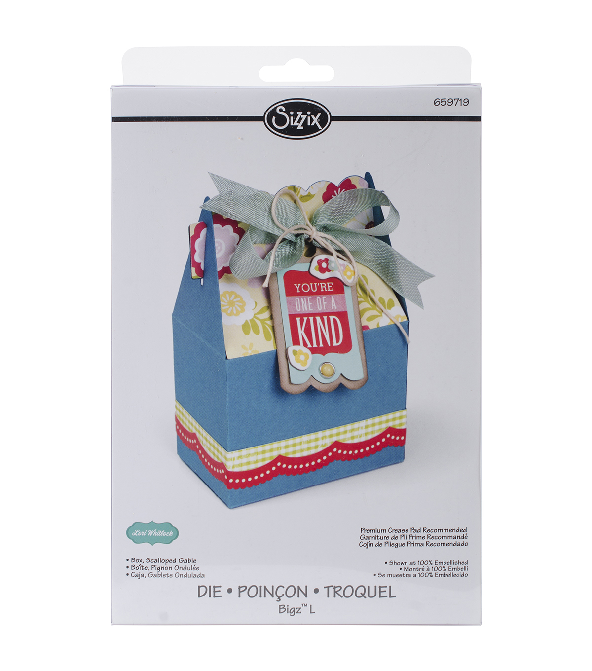 Sizzix™ Bigz™ Lori Whitlock L Die-Scalloped Gable Box