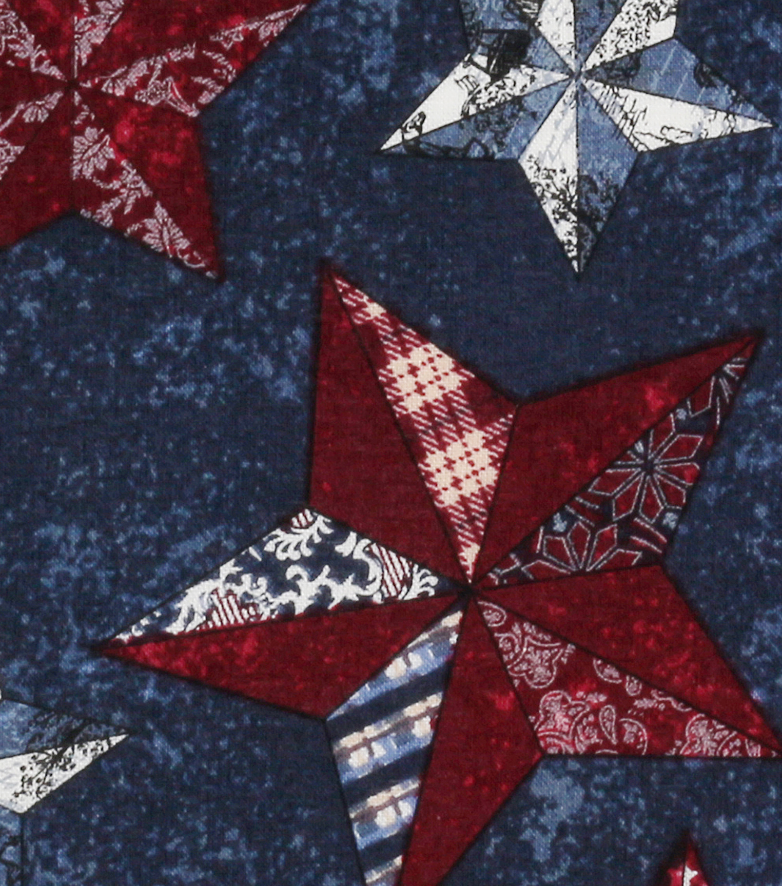 "Patriotic Cotton Fabric 43""-Texas Stars"
