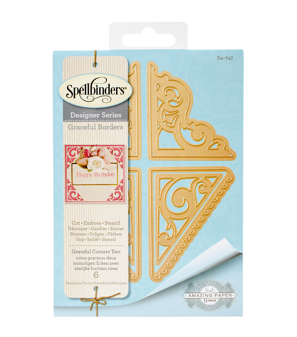 Spellbinders® Card Creator 6 Pack Etched Dies-Graceful Corners 2