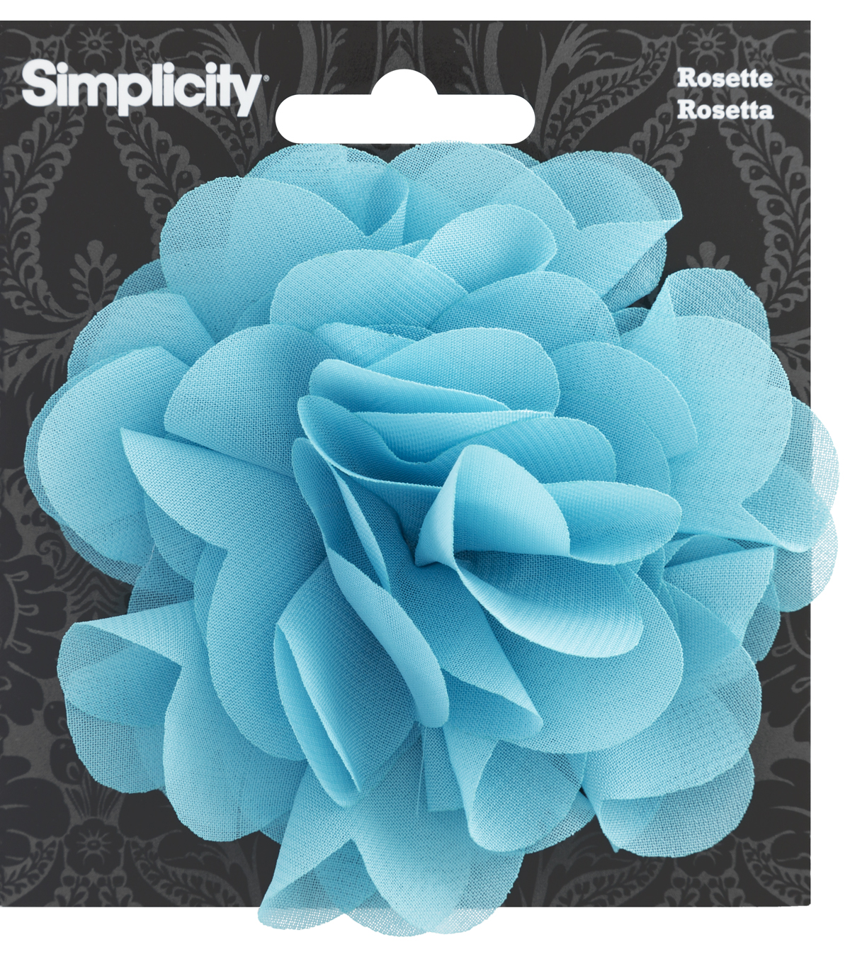 Rosette Flower Accessory Blue Turquoise