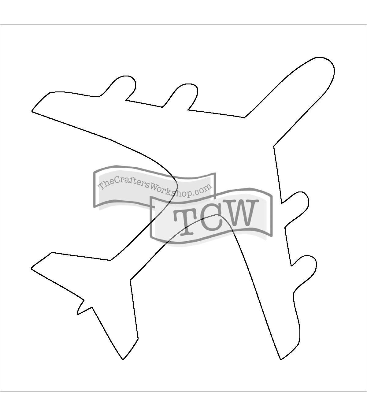 Crafter's Workshop Fragments Templates-Airplane