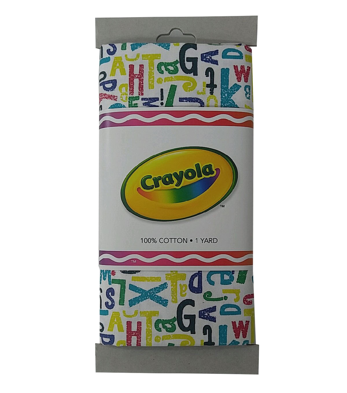 Crayola® Fabric 1yd Cut-Alphabet Print Multi