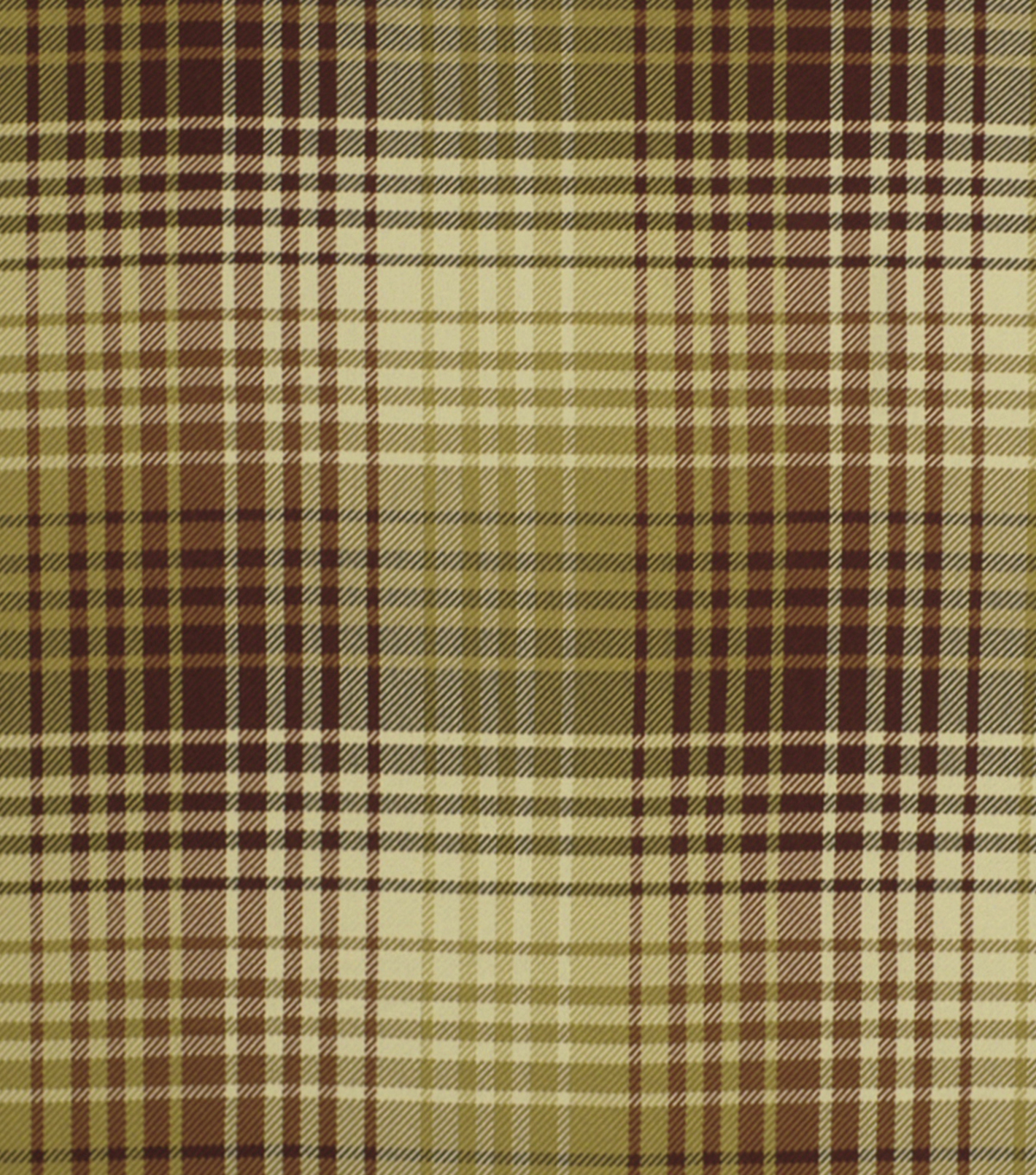 Robert Allen @ Home Upholstery Fabric 54\u0022-Luxe Plaid Tuscan Red