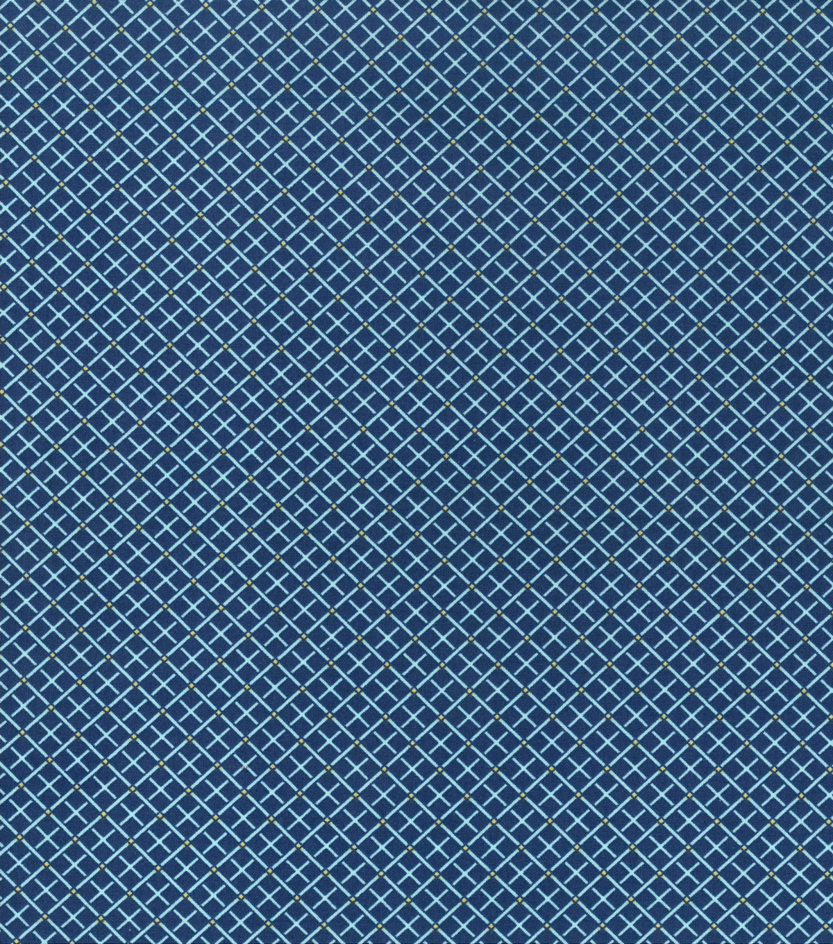 Keepsake Calico™ Cotton Fabric 43\u0022-Square Navy Aqua