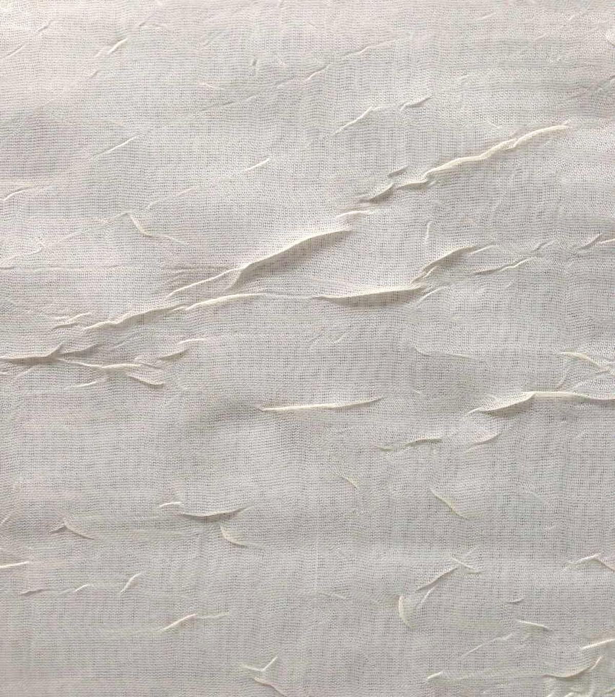 Signature Series Sheer Fabric Crushed Voile 53\u0022-Ivory