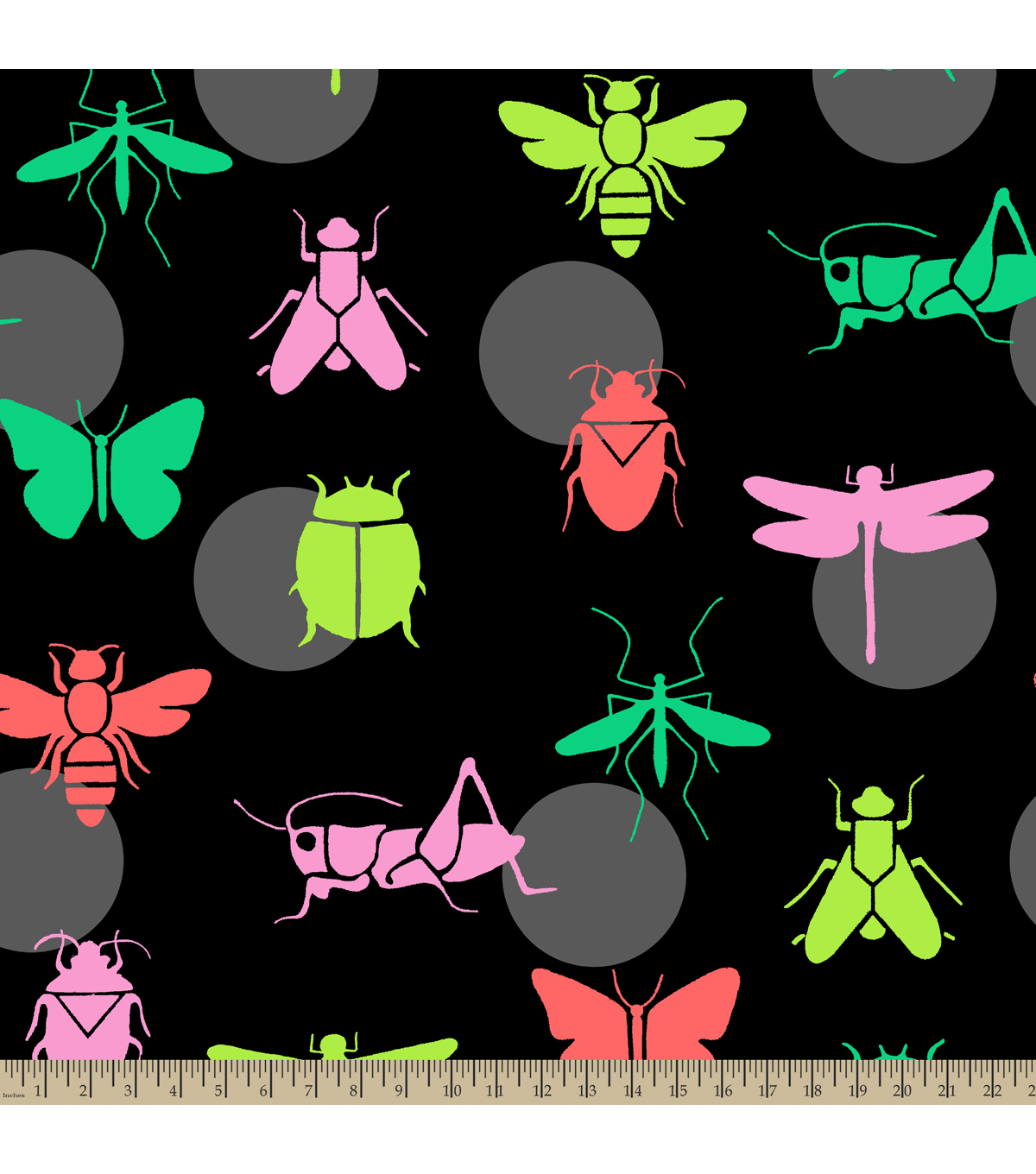 Anti-Pill Fleece Fabric 59\u0022-Bright Bugs