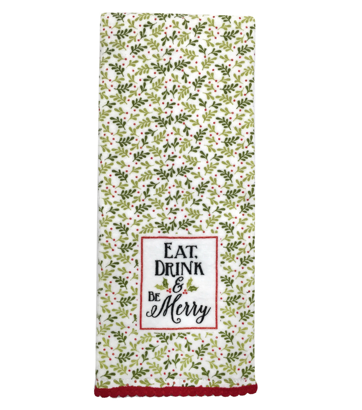 Maker\u0027s Holiday Terry Towel-Eat Drink Be Merry