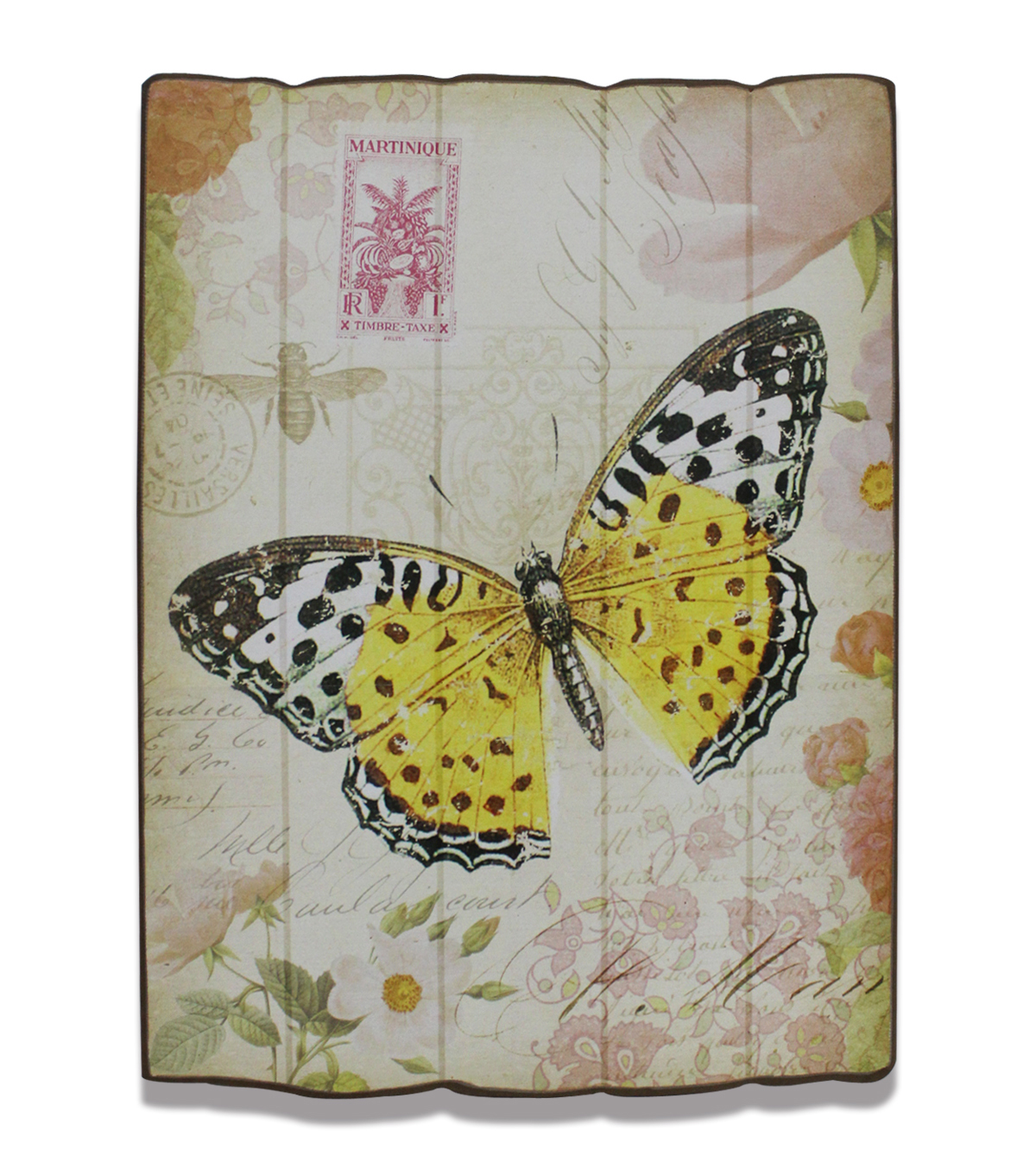 In The Garden Wood Wall Decor-Butterfly