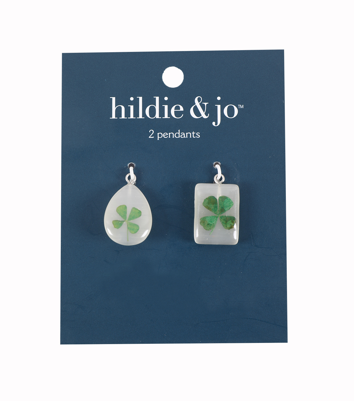Shamrock Pendants-Teardrop & Rectangle Shaped
