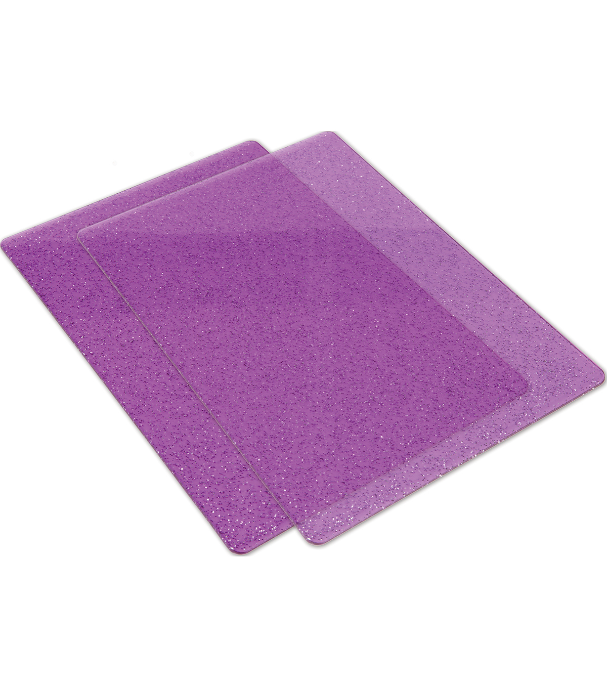 Sizzix Big Shot 2 Pack Cutting Pads-Purple & Silver Glitter