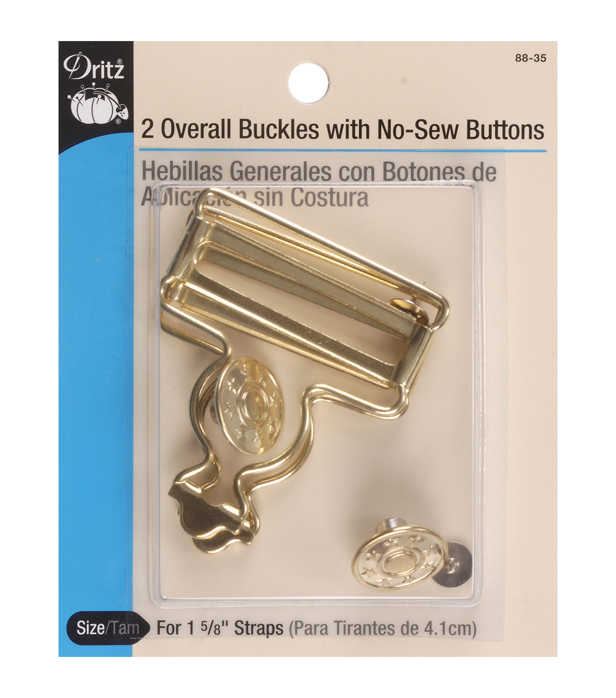 Dritz Overall Nickel Buckle For 1.63\u0027\u0027 Straps 2pcs