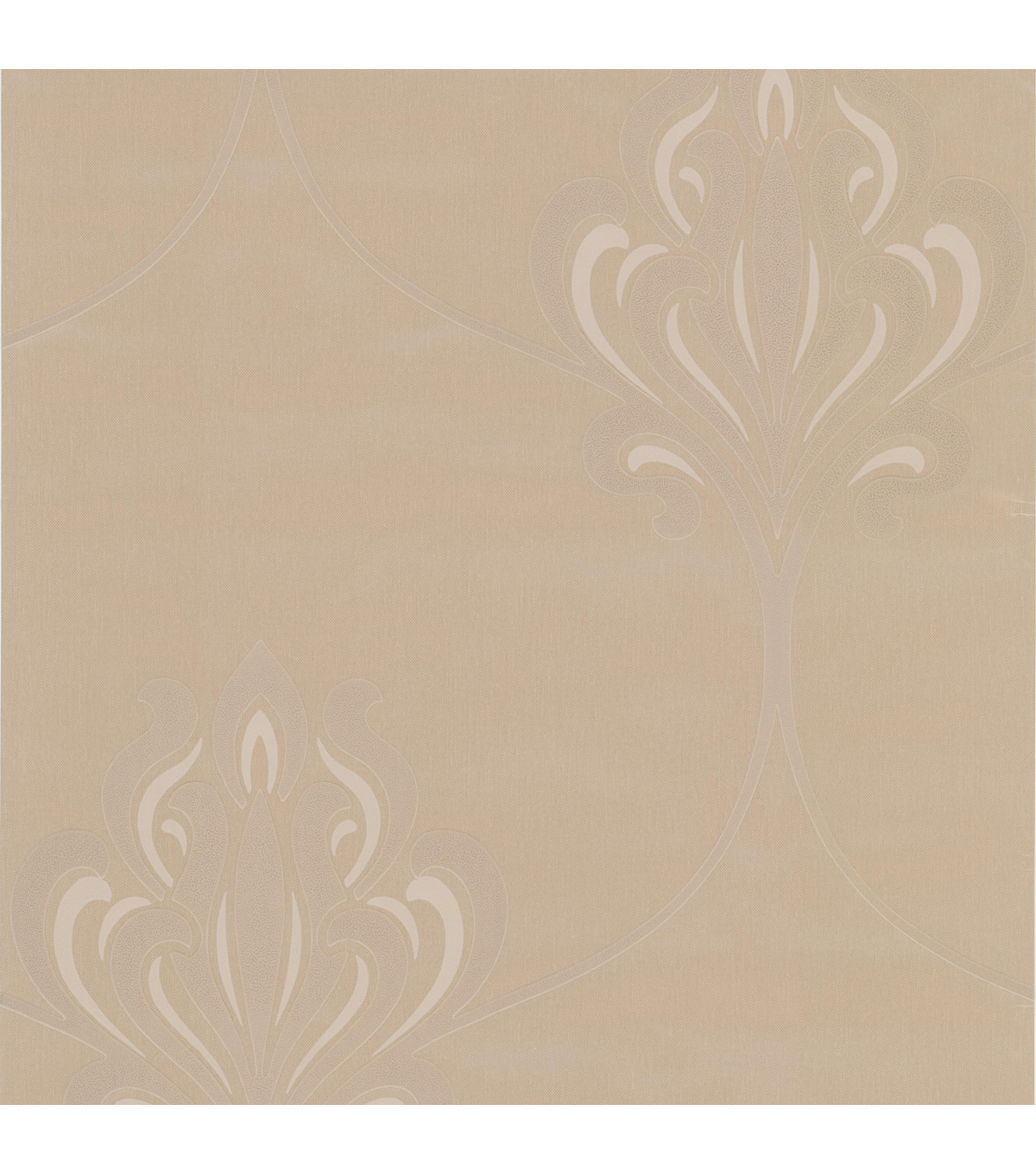 Orfeo Taupe Nouveau Damask Wallpaper Sample