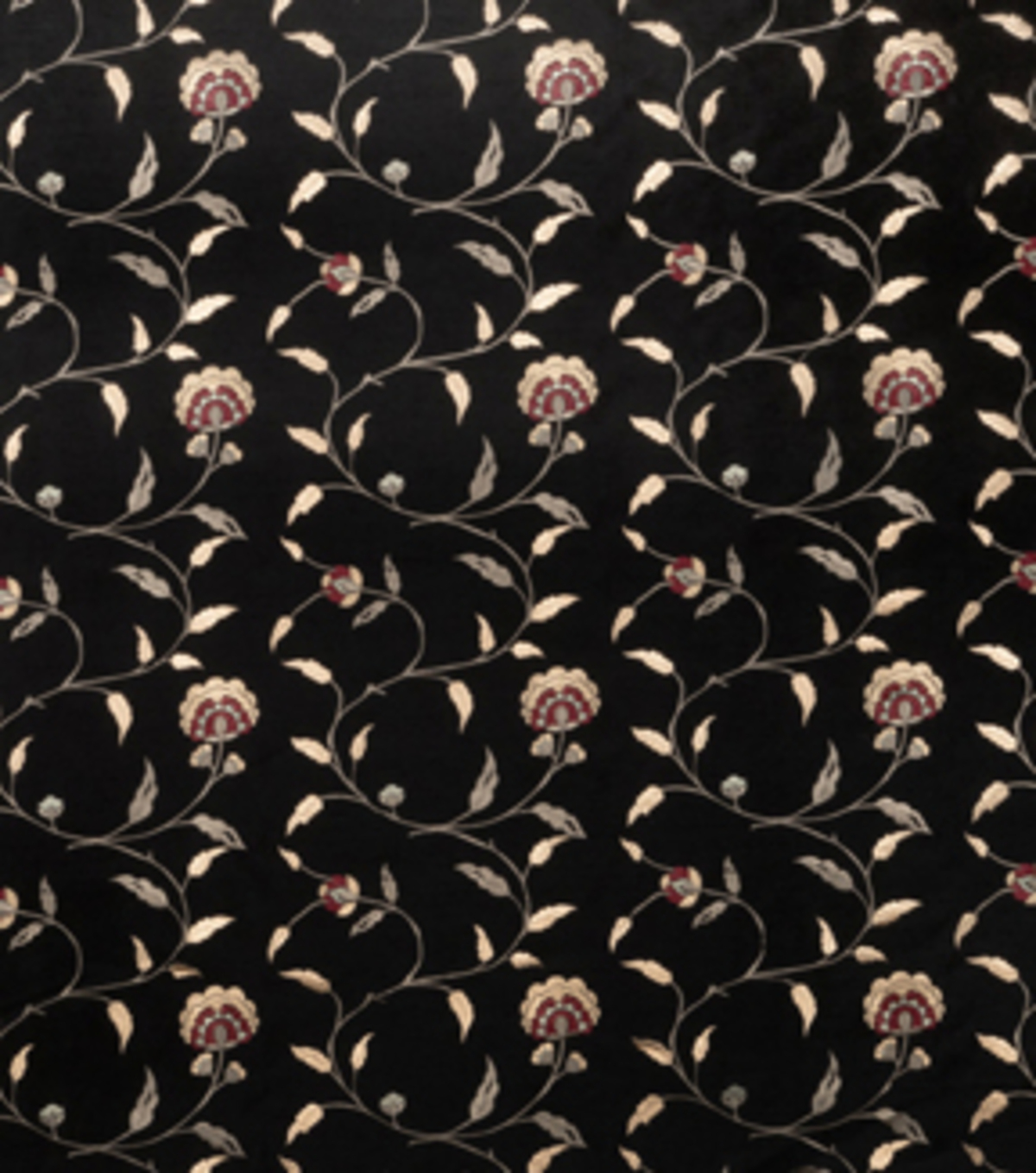 Home Decor 8\u0022x8\u0022 Fabric Swatch-Print Fabric Eaton Square Caesar Black