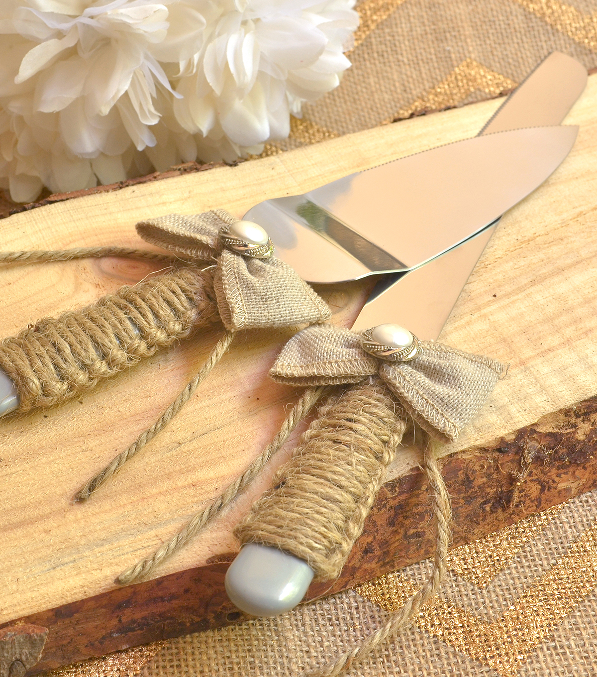 Rustic Cake Serving Set
