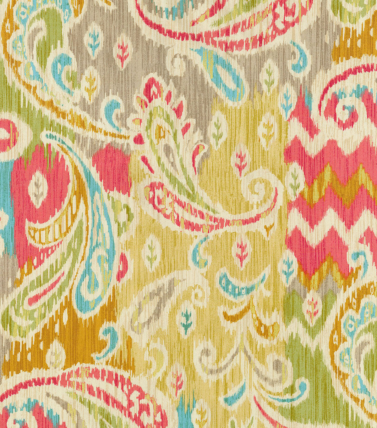 "Waverly Print Fabric 54""-Splash Of Color/Golden"