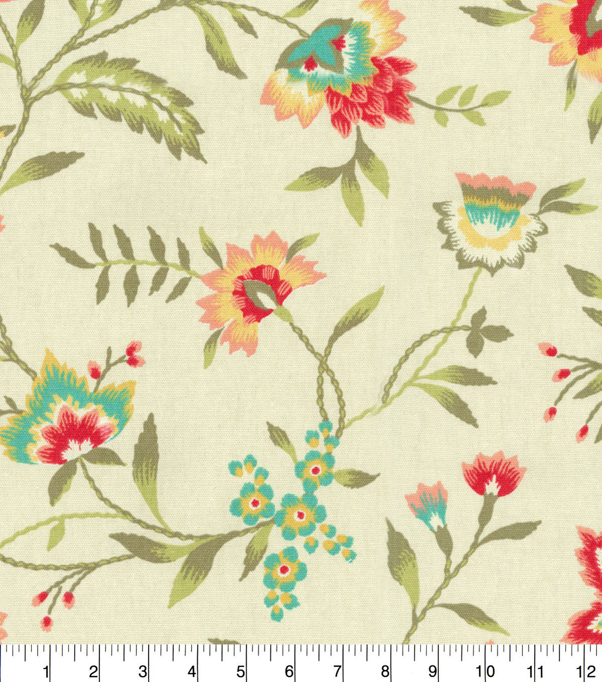 "Waverly Upholstery Fabric 54""-Carolina Crewel Bloom"