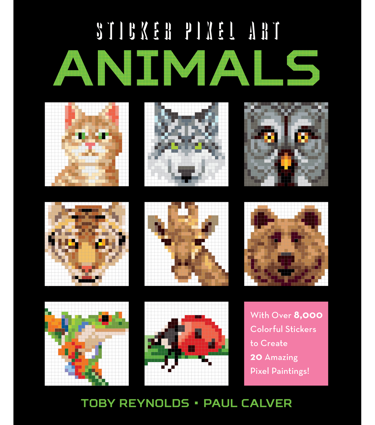 Racehorse Publishing Sticker Pixel Art Kit-Animals
