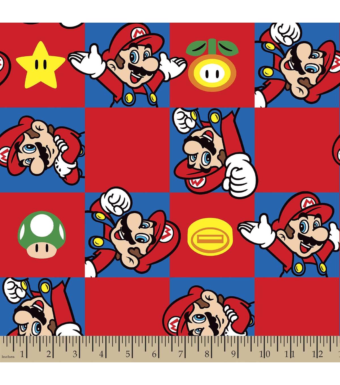 nintendo mario print fabric super mario brothers - Super Mario Pictures To Print