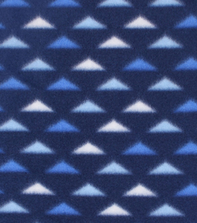 Blizzard Fleece Fabric 59\u0022-Blue & White Triangles
