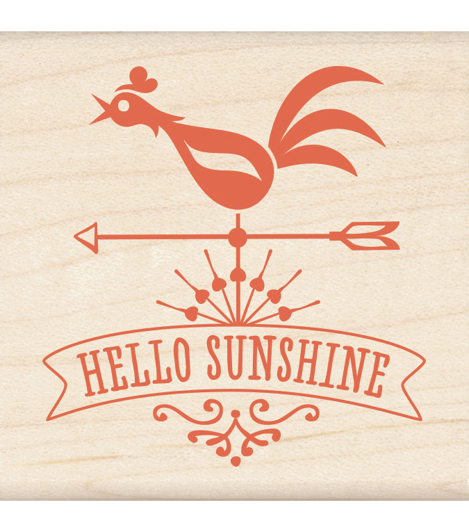 Inkadinkado Hello Sunshine Mounted Rubber Stamp 2.25\u0027\u0027x2.25\u0027\u0027