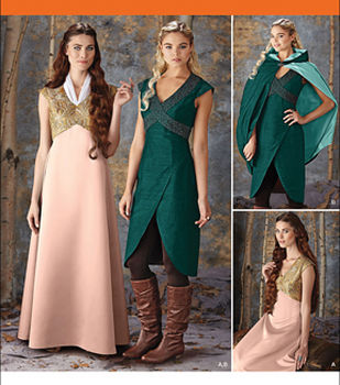 Simplicity Patterns 1008-Misses\u0027 Fantasy Costumes