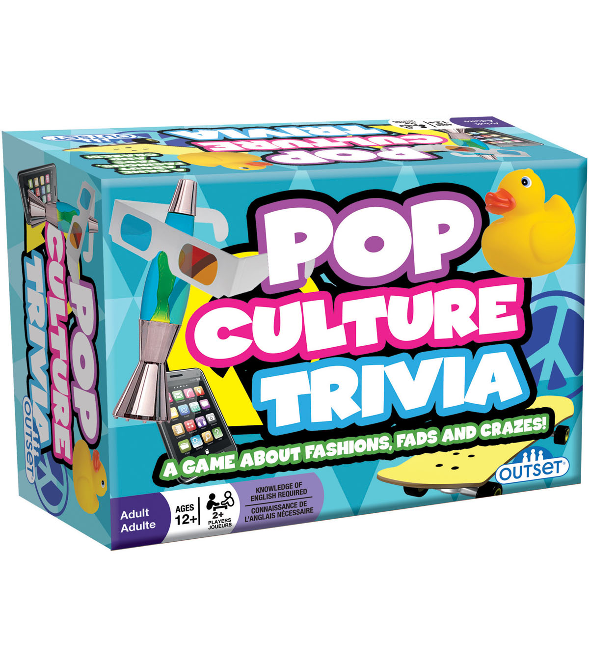 Outset Media 220 pk Pop Culture Trivia Party Games