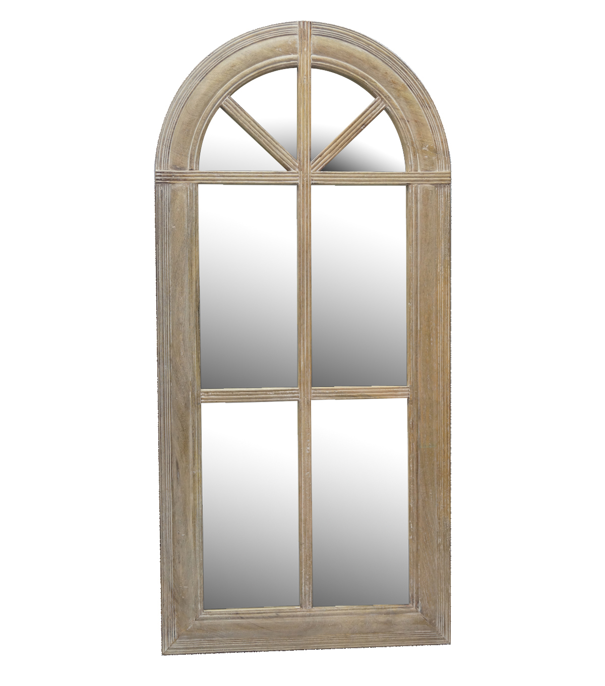Idea Market Paris Arch Whitewash Wooden Mirror-Natural