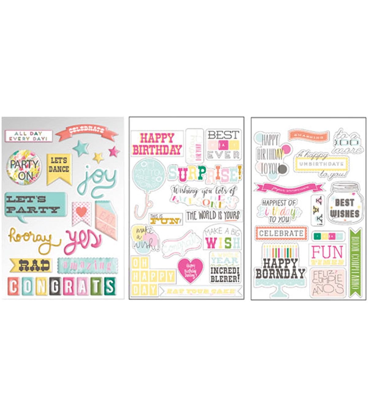 Prima Marketing Insta-Scrap Birthday Stickers