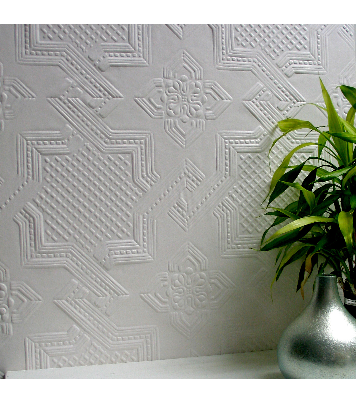 Seymour Paintable Supaglypta Wallpaper Sample
