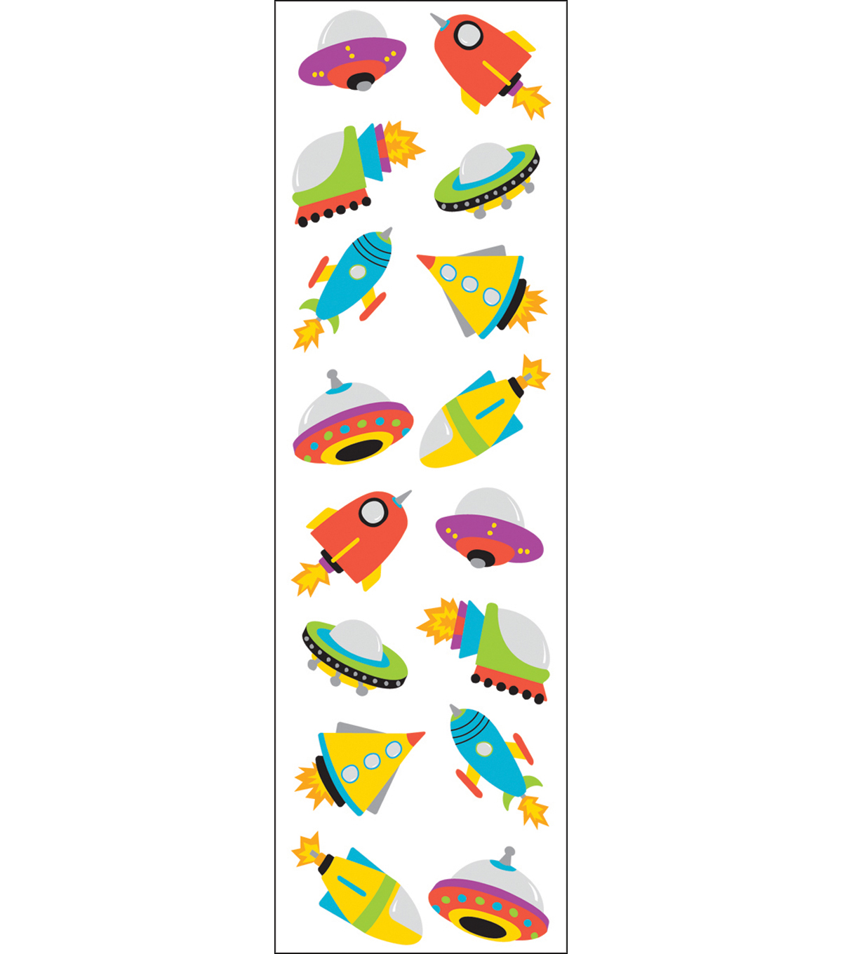 Mrs. Grossman\u0027s Stickers-Chubby Rocketships