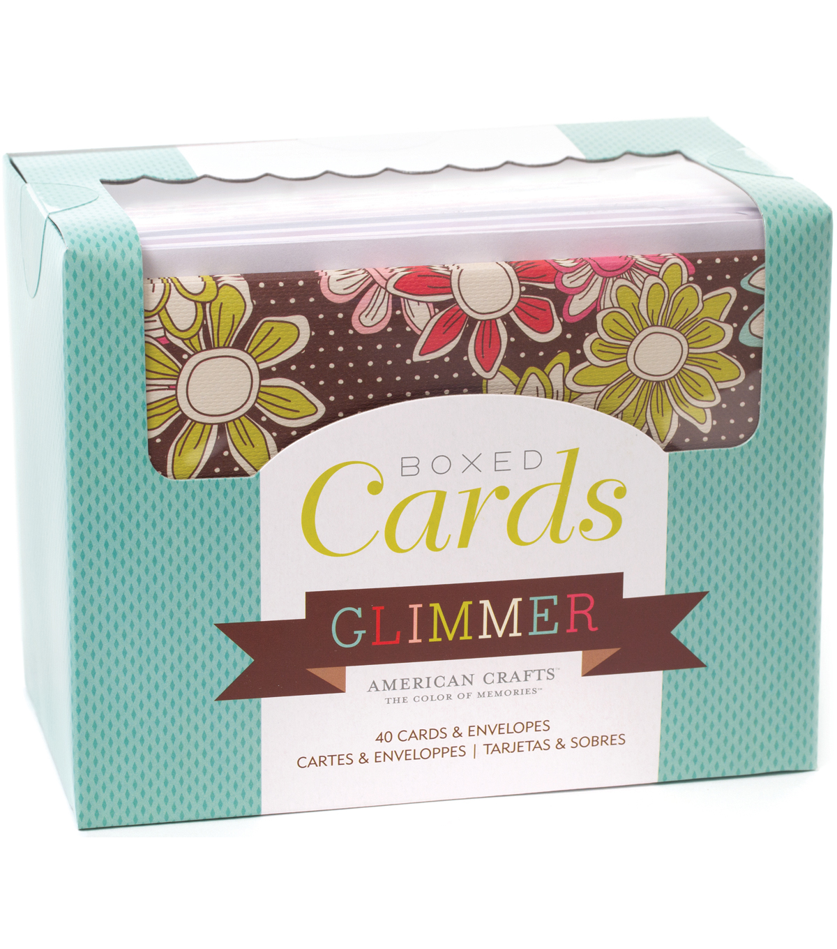 "American Crafts A2 Cards & Envelopes (4.375""X5.75"") 40/Box-Glimmer"