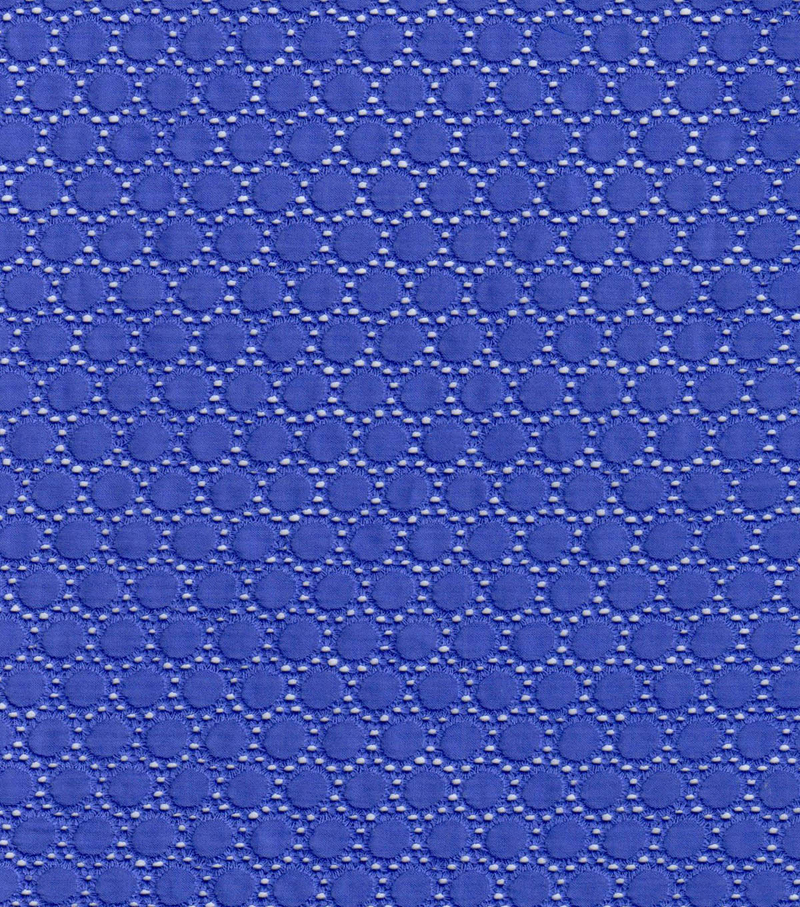 Cotton Eyelet Mini Dot Fabric-Purple