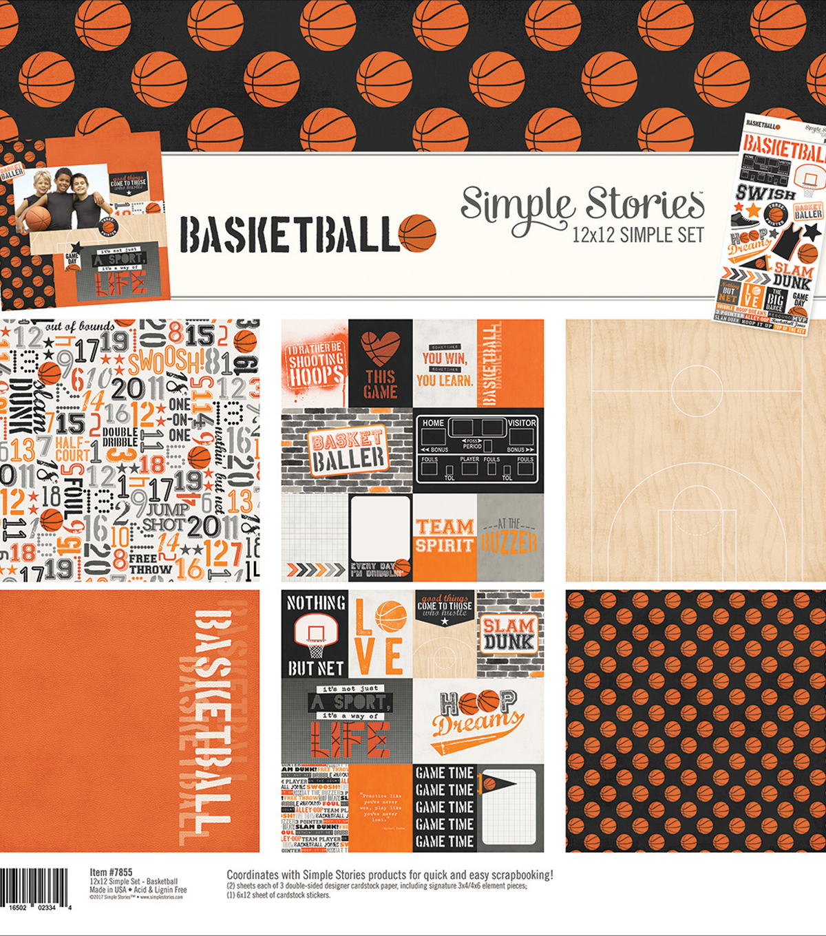 Simple Stories Simple Sets Collection Kit 12\u0022X12\u0022-Basketball