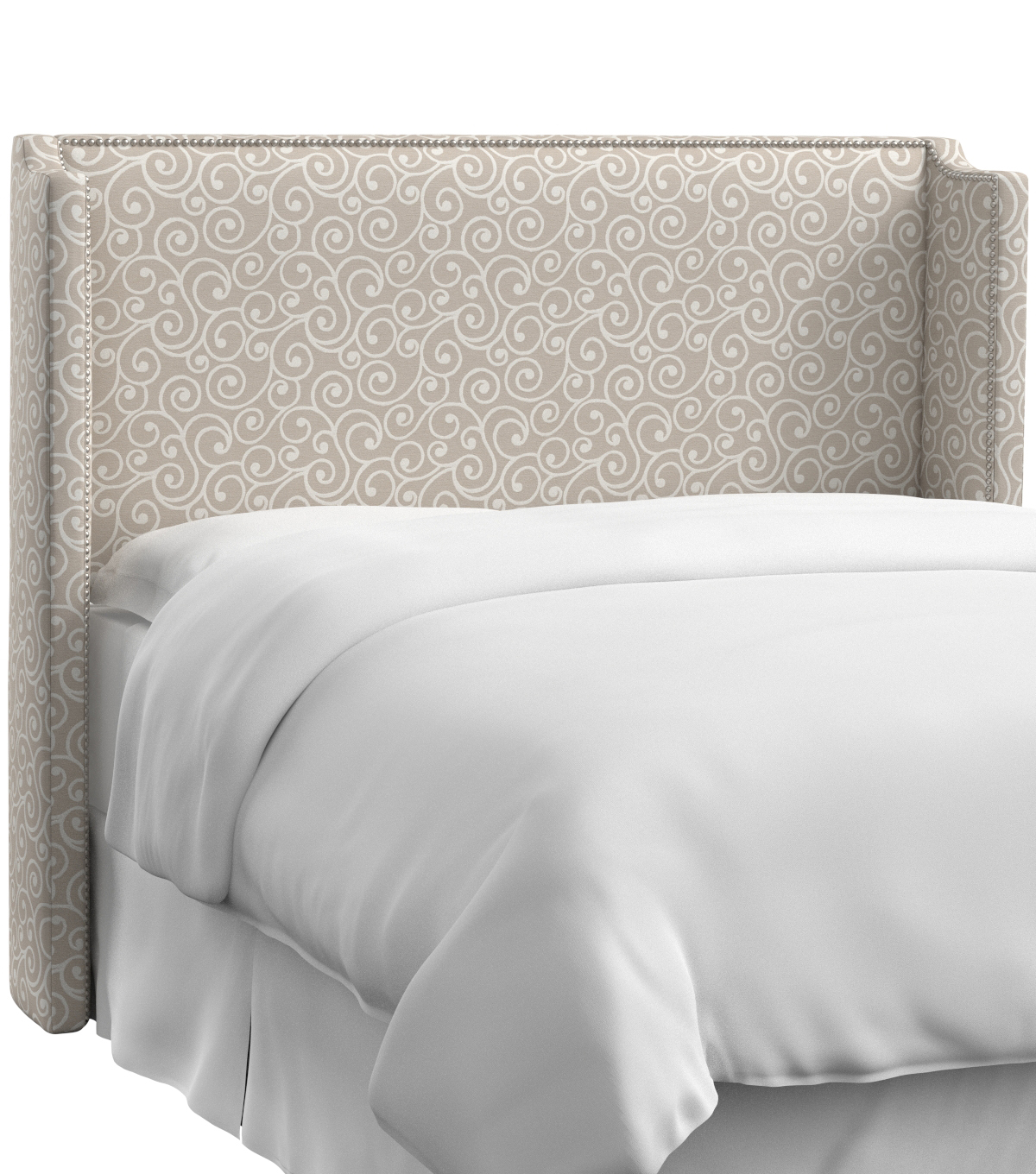 Skyline Furniture Nail Button Wingback Headboard-Queen