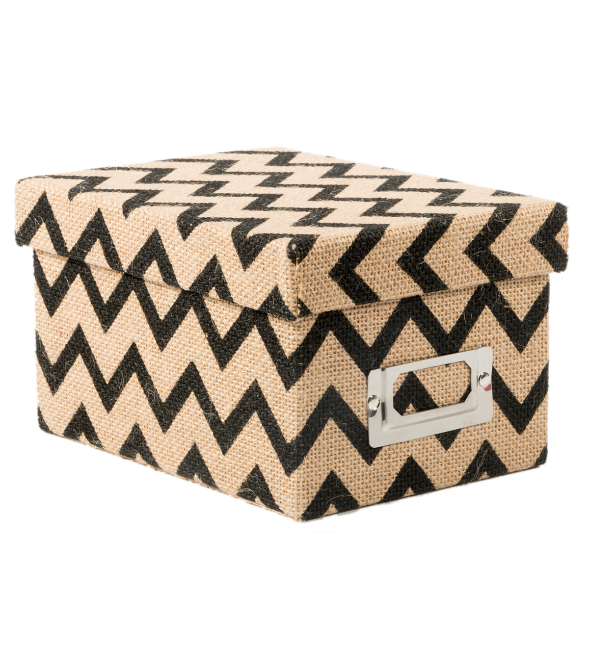 DCWV Mini Box: Burlap with black chevron