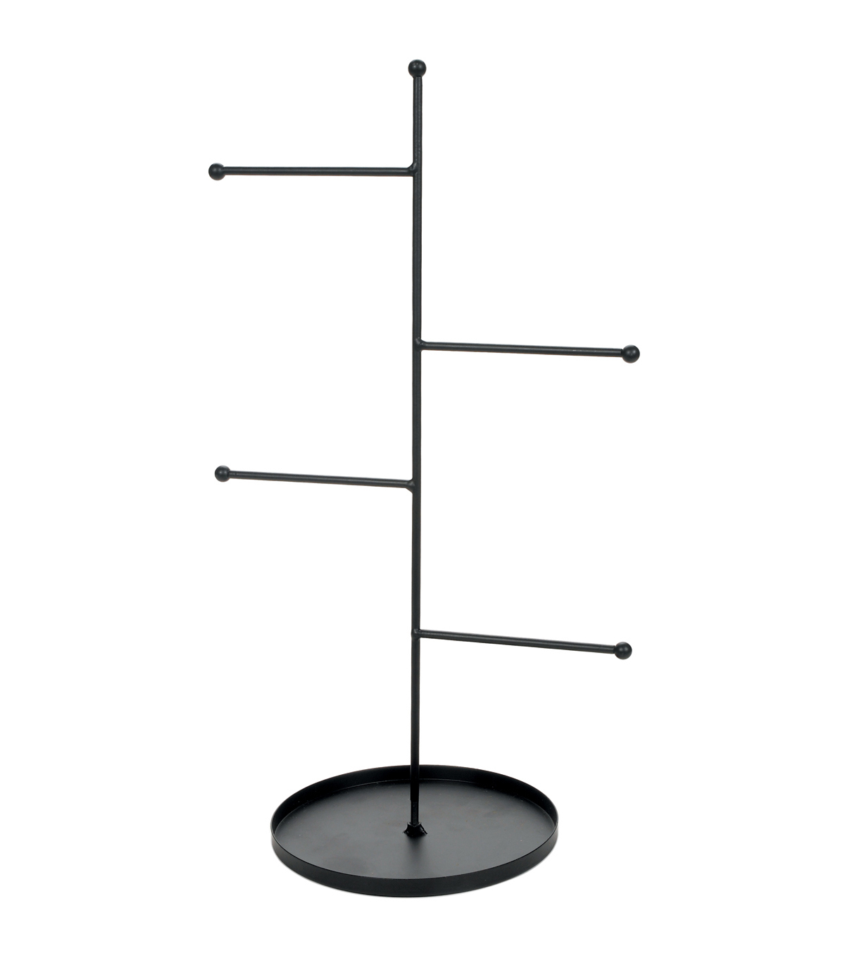 "Metal Rungs Jewelry Stand 16.5""X6.5""-Black"
