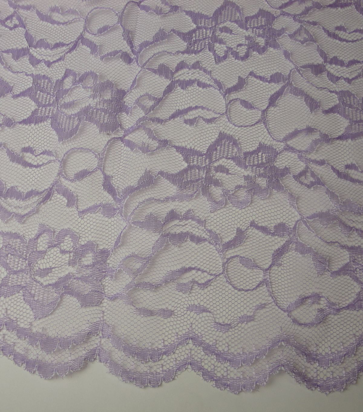 Casa Collection Fabric Two-Tone Lace Fabric-White/Lavender