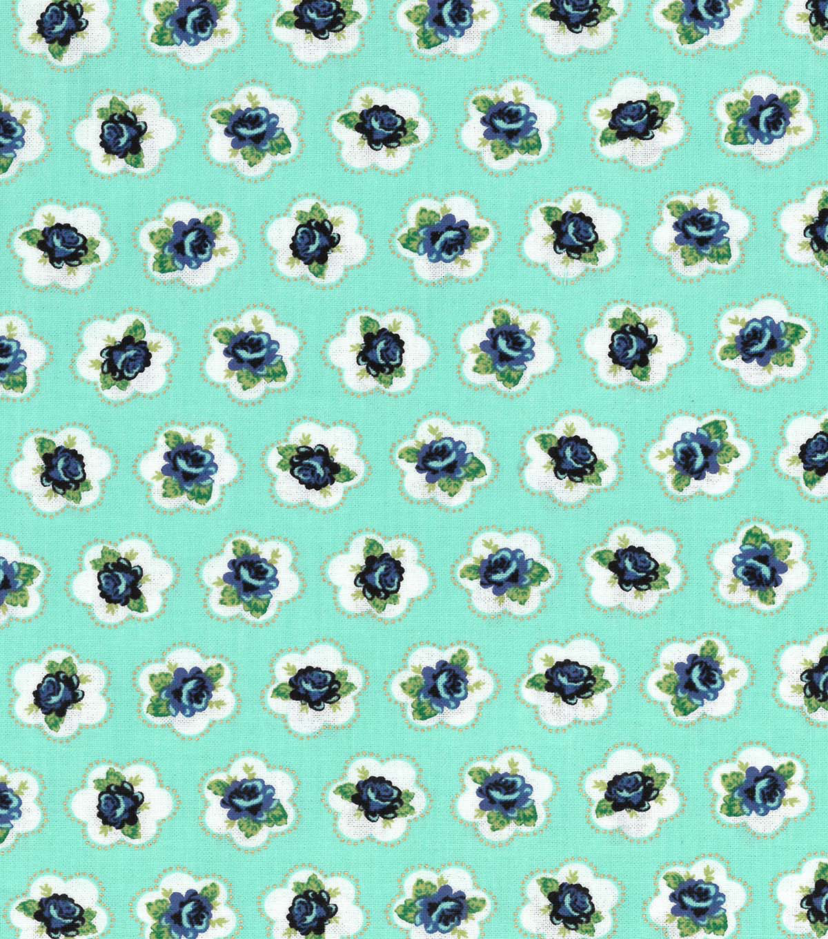 Buttercream™ Stella Cotton Fabric 43\u0022-Ditsy Floral Turq