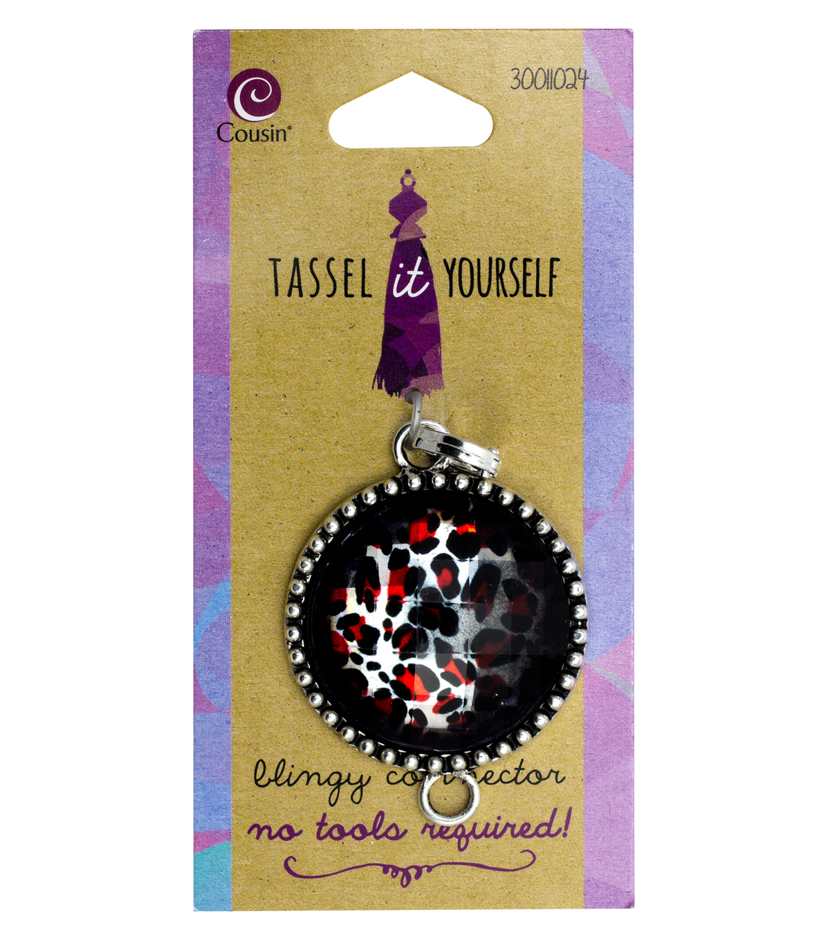 Cousin® Tassel It Yourself Round Connector-Red & Black Accent