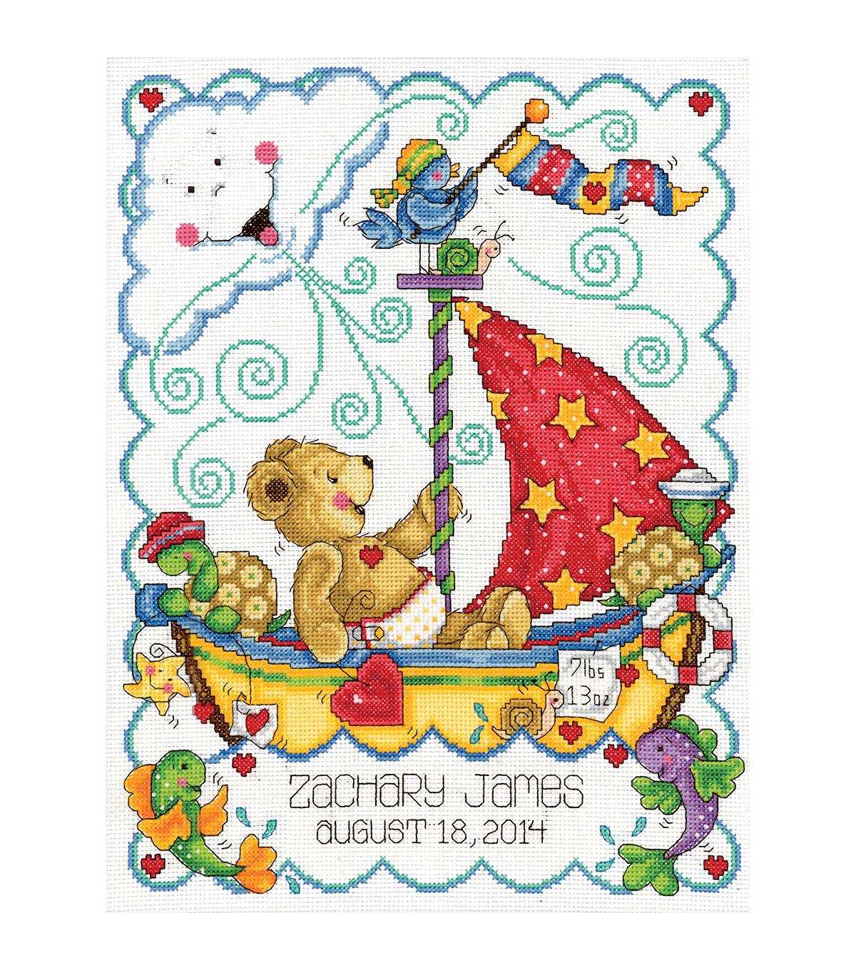 Tobin Sail Away Baby Counted Cross Stitch Kit