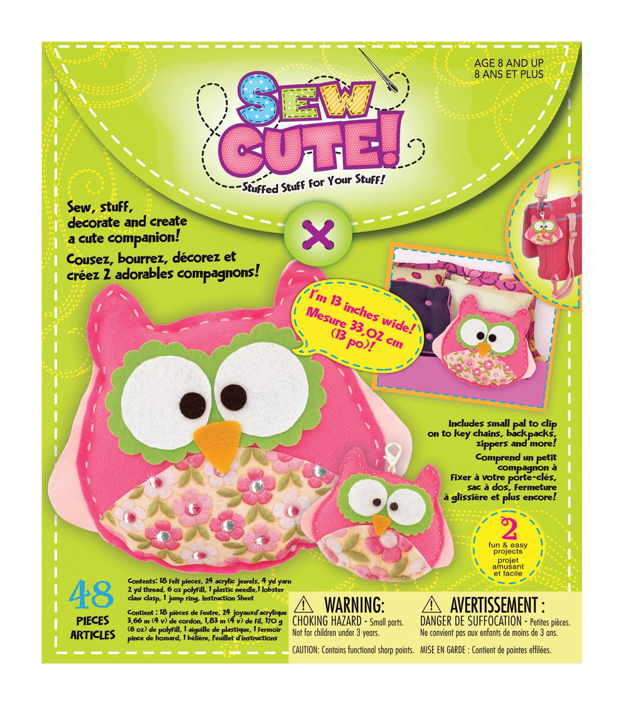 Creativity For Kids Sew Cute Craft Box Kit Makes 2Owl, , Hi Res ...