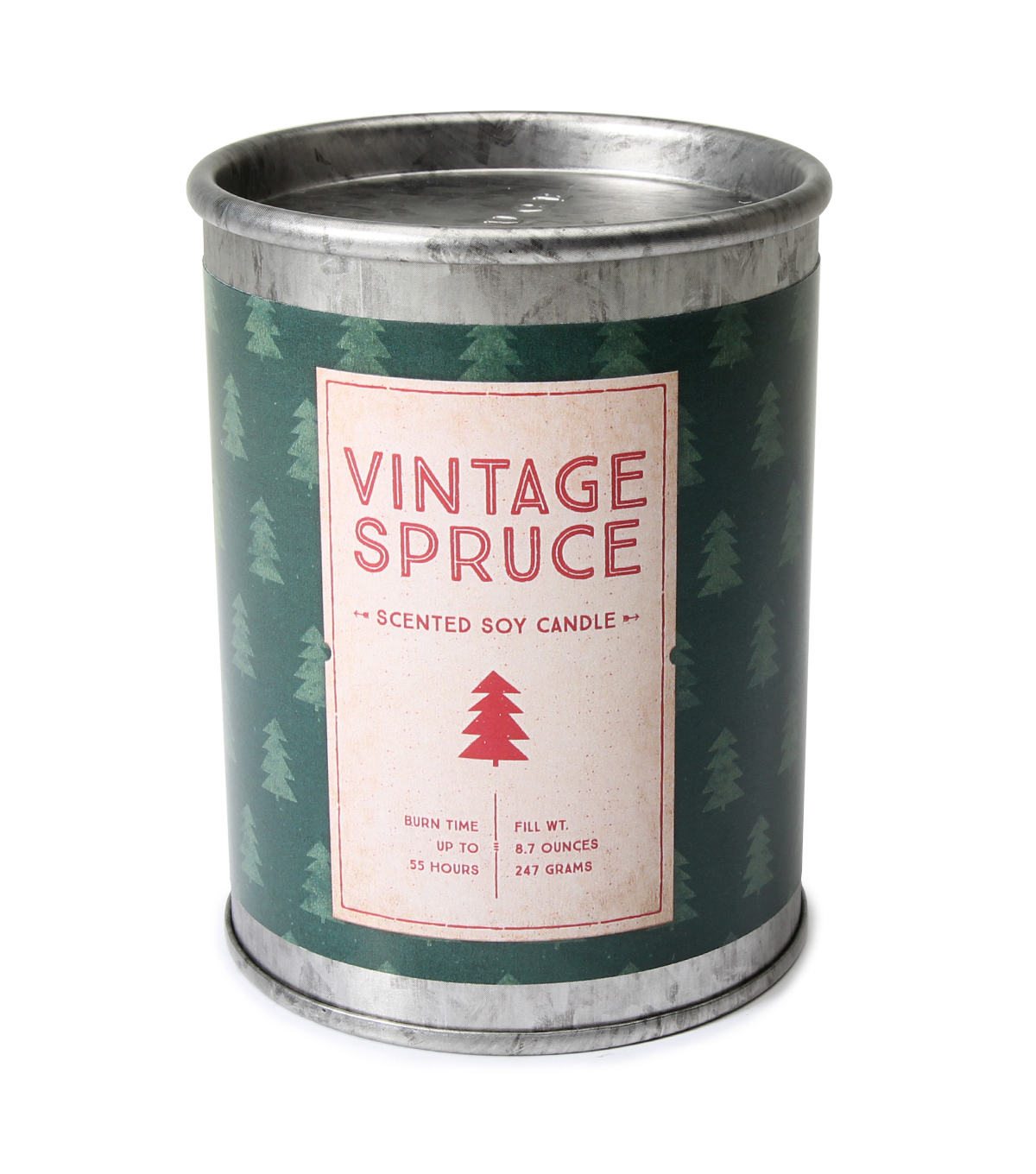 Maker\u0027s Holiday Christmas 8.7 oz. Scented Soy Tin Candle-Vintage Spruce